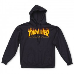 Flame Logo Hood Black - THRASHER