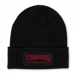 China Banks Patch Beanie Black - THRASHER