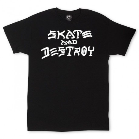 Skate And Destroy T-Shirt Black - THRASHER
