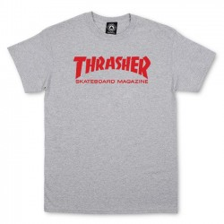 Skate Mag T-Shirt Gray/Red - THRASHER