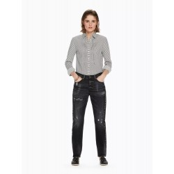 Bandit - Salt And Pepper Black Slim tapered boyfriend fit - MAISON SCOTCH