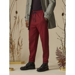 PIQUE TRACK PANT WITH ZIP POCKETS - SCOTCH&SODA