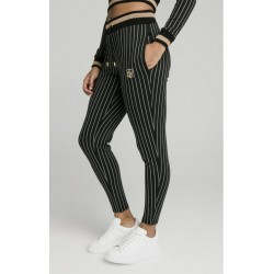 Baseball Stripe Joggers Black - SikSilk