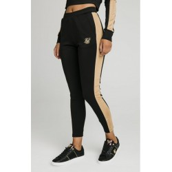 Satin Panel Track Pants Black - SikSilk