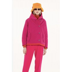 Giacca corta 9006 in memory fucsia/rosso - OOF
