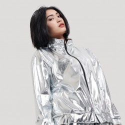 Silver Chrome Zip - DOLLY NOIRE