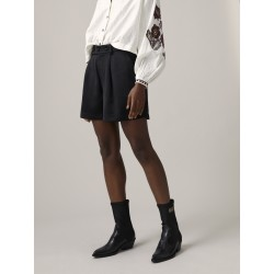 TAILORED SHORTS IN SHINY TWILL QUALITY - MAISON SCOTCH