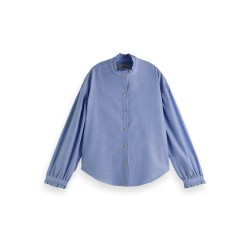 BOXY FIT SHIRT IN OXFORD QUALITY AND SPECIAL COLLAR & CUFF - MAISON SCOTCH